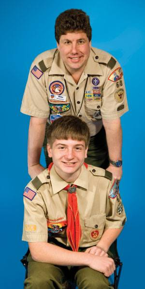 Mike Abrahamson trusted Jeff Liskov, seated, to handle Troop 68's youth leader training.